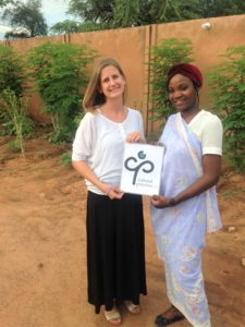 Cait Nordehn with colleague Safoura Mahamane in Niger