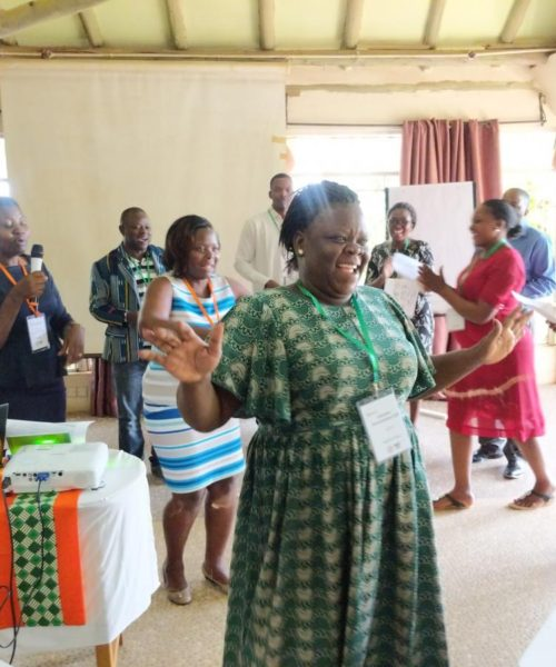 Participants and trainers go through an exercise in gender-based constraints during Week 1 of the GREAT legume breeding course. Credit: GREAT Agriculture.